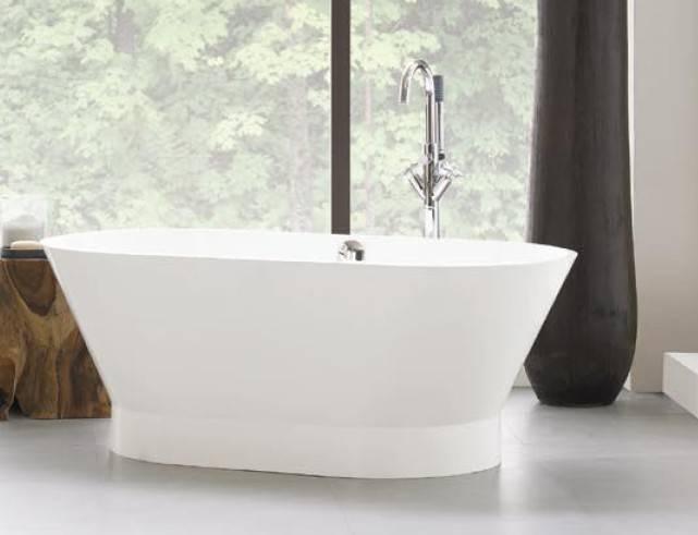 neptune bathtub 01PC - Neptune Freestanding Bathtub Oval White