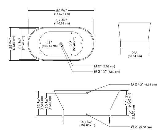 o1s - Neptune Freestanding Bathtub Oval White