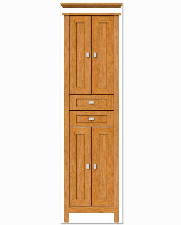 alkilinen 1 - Strasser Woodenworks Alki Linen Tower, 4 Door Styles, 15 Finishes