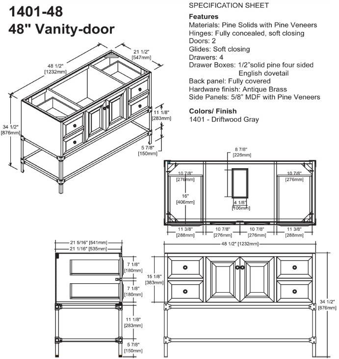 "48"" Fairmont Designs Toledo Vanity - Bathroom Vanities and ..."