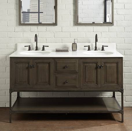 "60"" Fairmont Designs Toledo Double Sink Vanity - Bathroom ..."