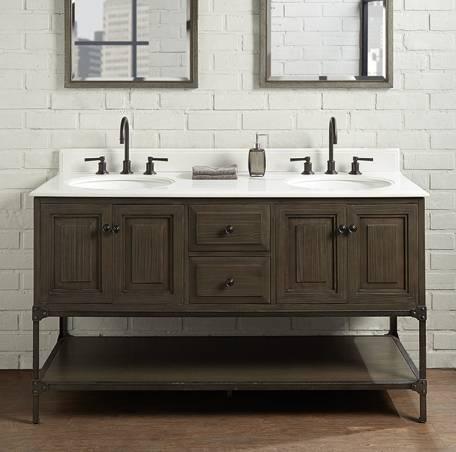 """140160D - 60"""" Fairmont Designs Toledo Double Sink Vanity"""