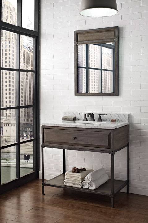 "1401VH36 - 36"" Fairmont Designs Toledo Open Shelf Vanity"