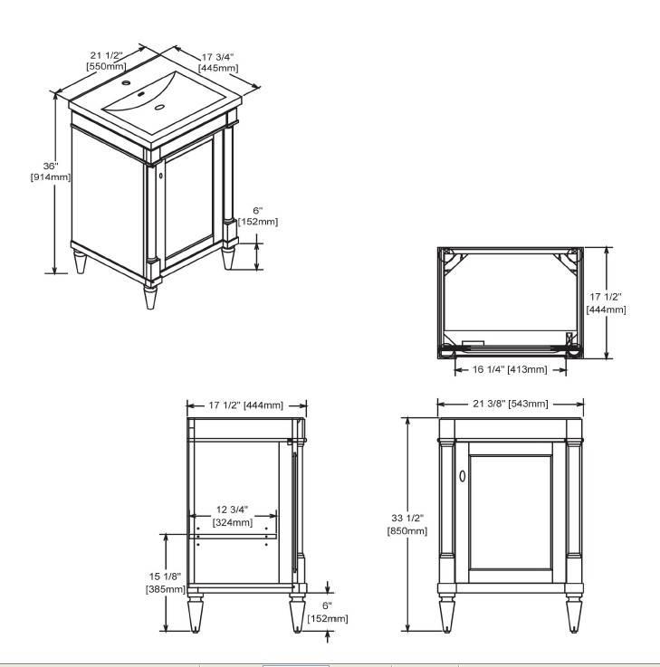 "142V21s - 21"" Fairmont Designs Rustic Chic Vanity/Sink Combo"