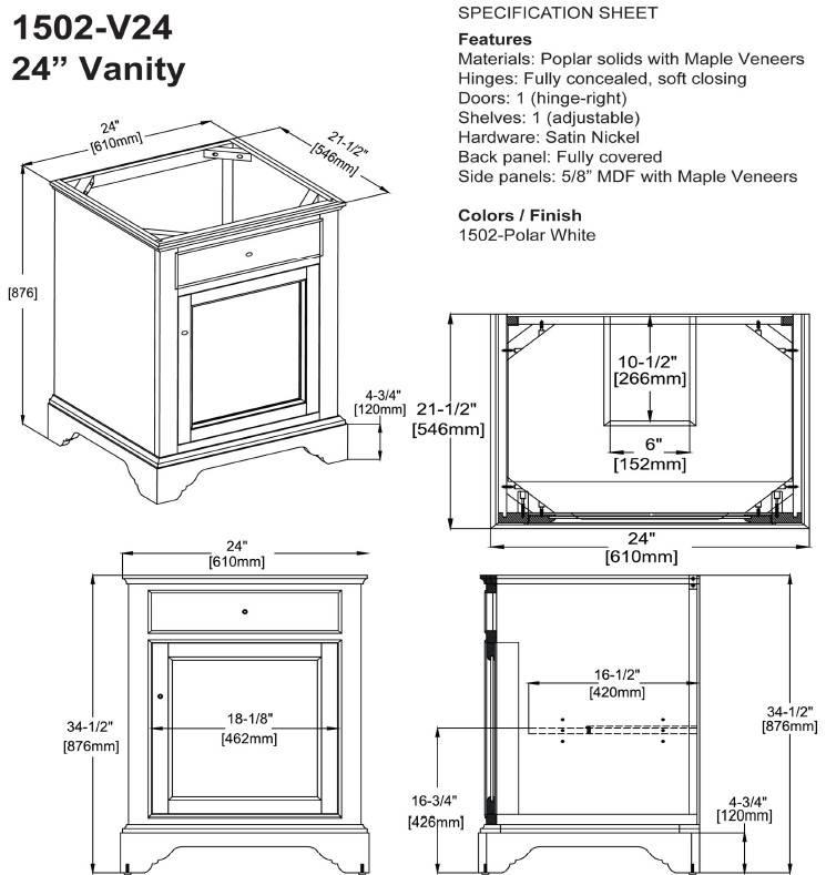 """1502V24s - 24"""" Fairmont Designs Framingham Vanity"""