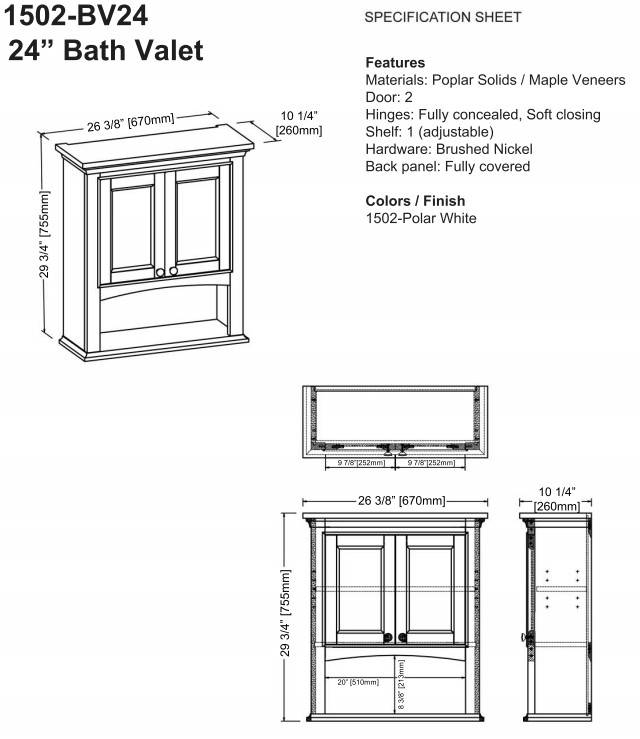 "1502bv24s - 72"" Fairmont Designs Framingham Double Sink Vanity"