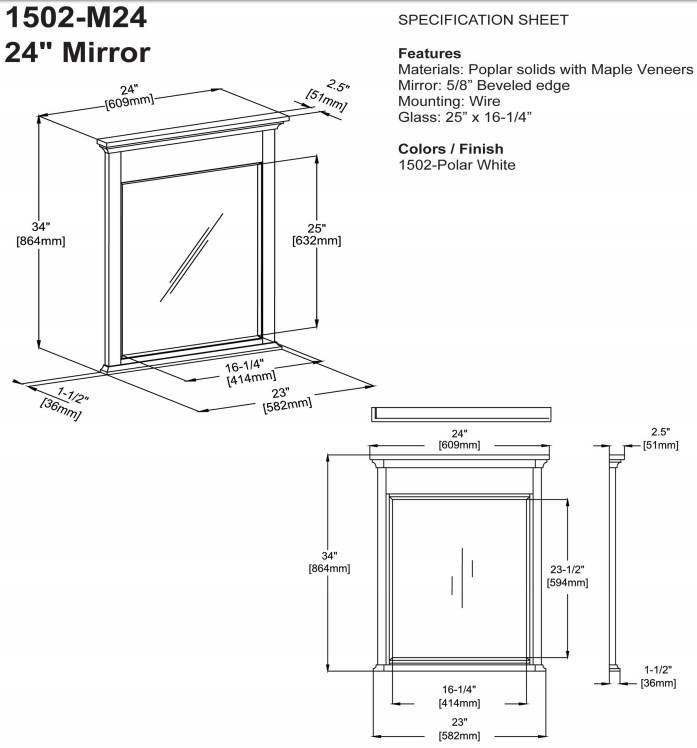 "1502m24s - 21"" Fairmont Designs Framingham Vanity/Sink Combo"