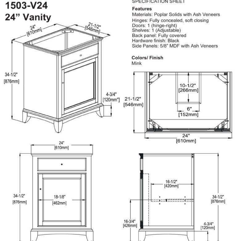 "1503V24s 768x780 - 24"" Fairmont Designs Smithfield Vanity"