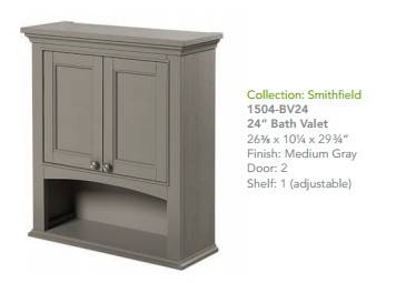 "1504BV24 - 60"" Fairmont Designs Smithfield Double Sink Vanity"
