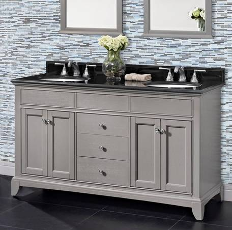 "1504V6021D - 60"" Fairmont Designs Smithfield Double Sink Vanity"