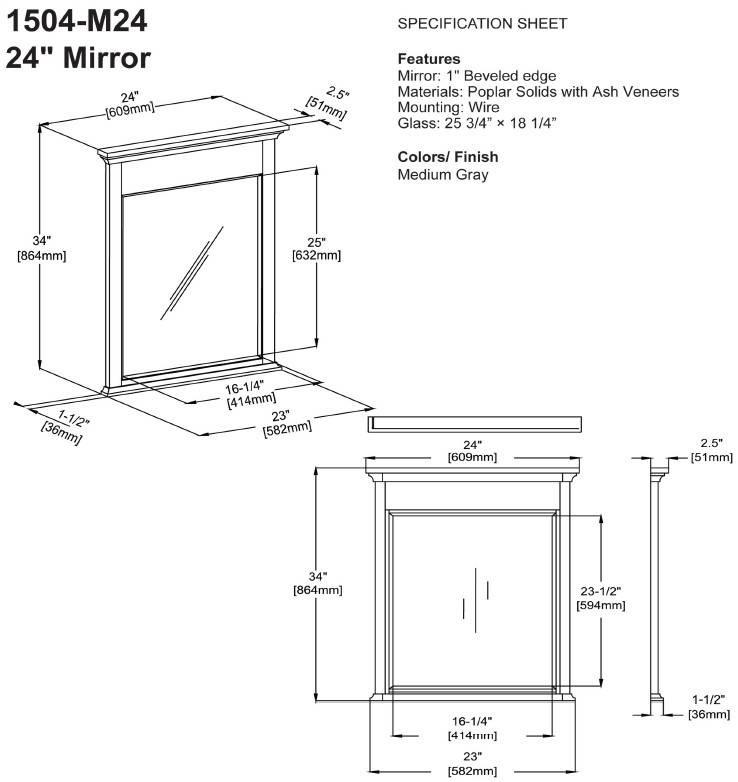 "1504m24s 1 - 60"" Fairmont Designs Smithfield Double Sink Vanity"