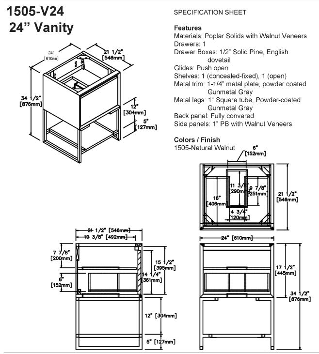 "1505 v24s - 24"" Fairmont Designs m4 Vanity"