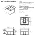 "1505 wv24s 120x120 - 24"" Fairmont Designs m4 Wall Mount Vanity"
