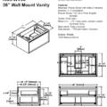 "1505 wv36s 120x120 - 36"" Fairmont Designs Wall Mount m4 Vanity"