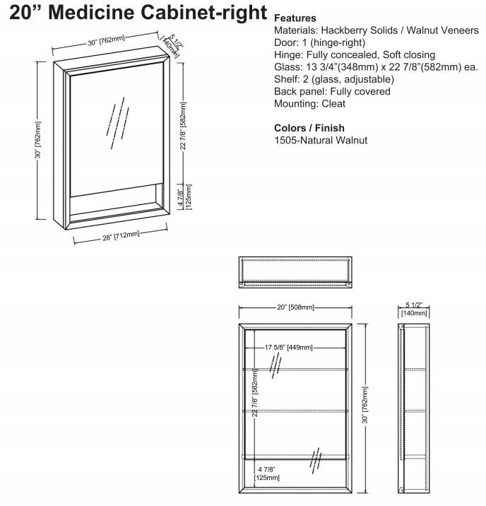 "1505mc214r - 36"" Fairmont Designs  m4 Vanity"