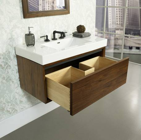 """1505wv3618a - 36"""" Fairmont Designs m4  Wall Mount Vanity/Sink Combo"""
