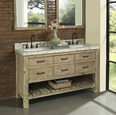 "1507vh6021d - 60"" Fairmont Designs Napa Double Sink Vanity"