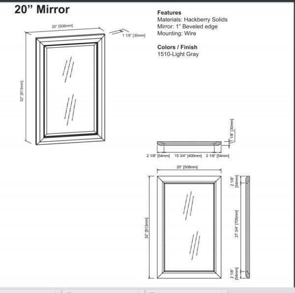 "1510m20s 600x597 - 18"" Fairmont Designs Charlottesville Vanity/Sink Combo"