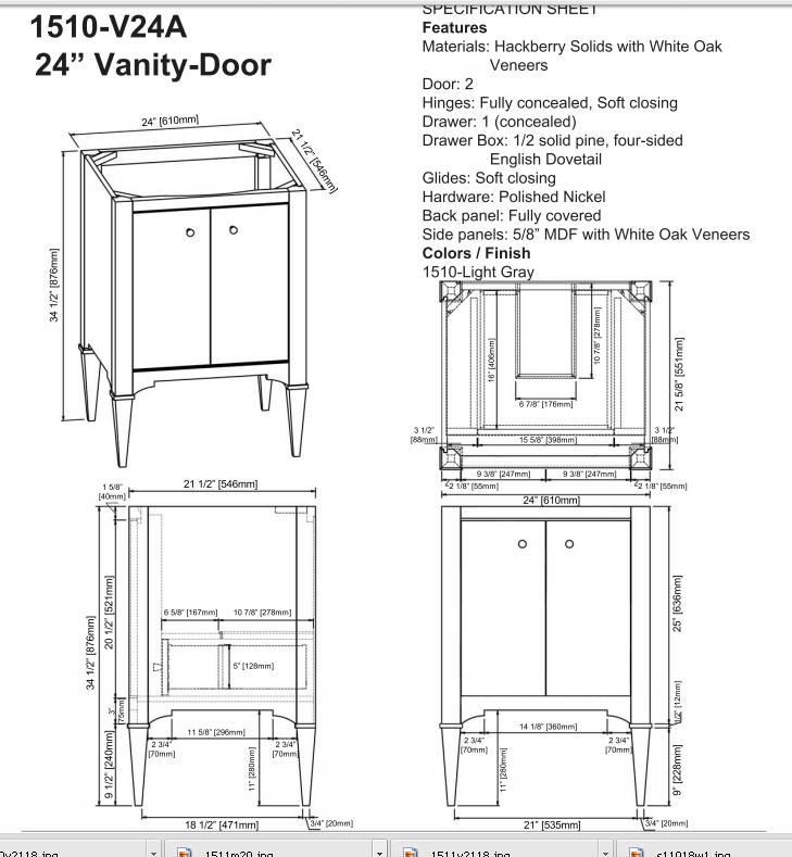 """1510v24as 1 - 24"""" Fairmont Designs Charlottesville Vanity"""