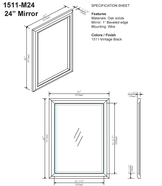 "1511 m24s 1 - 24"" Fairmont Designs Charlottesville Vanity"