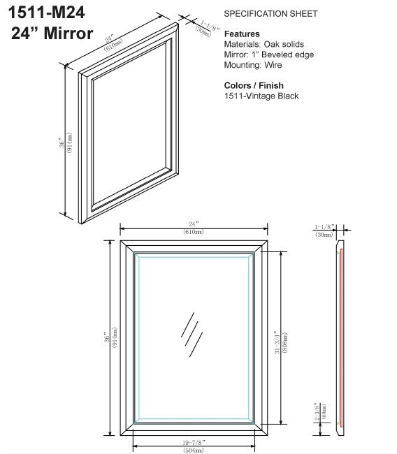 "1511 m24s 2 - 30"" Fairmont Designs Charlottesville Vanity"
