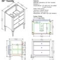 "1511 v30s 120x120 - 30"" Fairmont Designs Charlottesville Vanity"