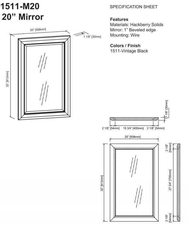 """1511m20s - 21"""" Fairmont Designs Charlottesville Vanity/Sink Combo"""