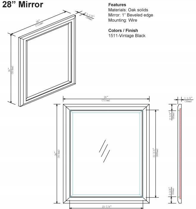 "1511m28s - 60"" Fairmont Designs Charlottesville Double Sink Vanity"