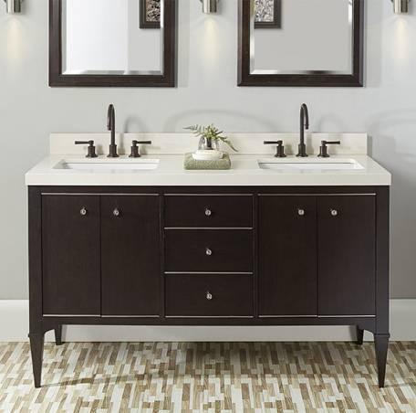 "1511v6012da - 60"" Fairmont Designs Charlottesville Double Sink Vanity"