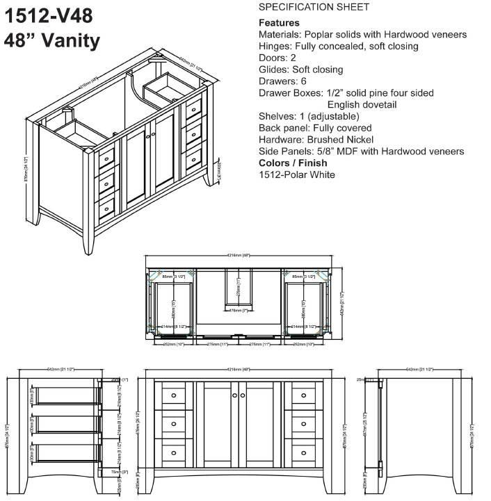 "1512V48S - 48"" Fairmont Designs Shaker Americana  Vanity"