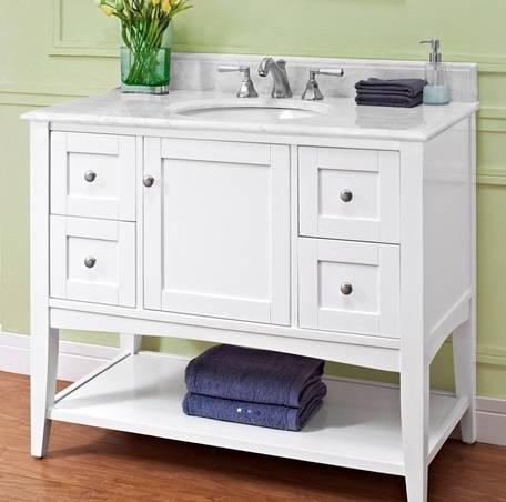 "1512VH42 - 42"" Fairmont Designs Shaker Americana Open Shelf Vanity"