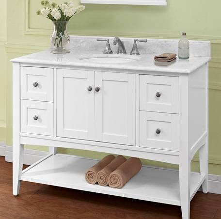 "1512VH48 - 48"" Fairmont Designs Shaker Americana Open Shelf Vanity"