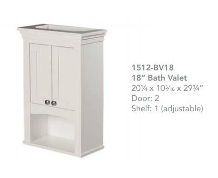"1512bv18 - 30"" Fairmont Designs Shaker Americana Open Shelf Vanity"