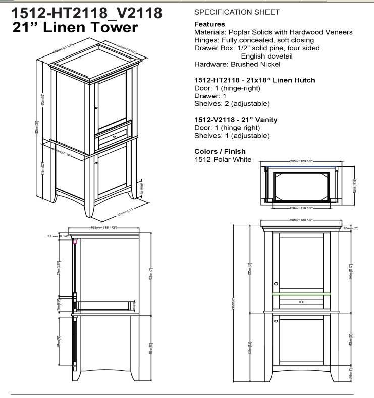 "1512ht2118v2118s - 60"" Fairmont Designs Shaker Americana Double Sink Open Shelf Vanity"