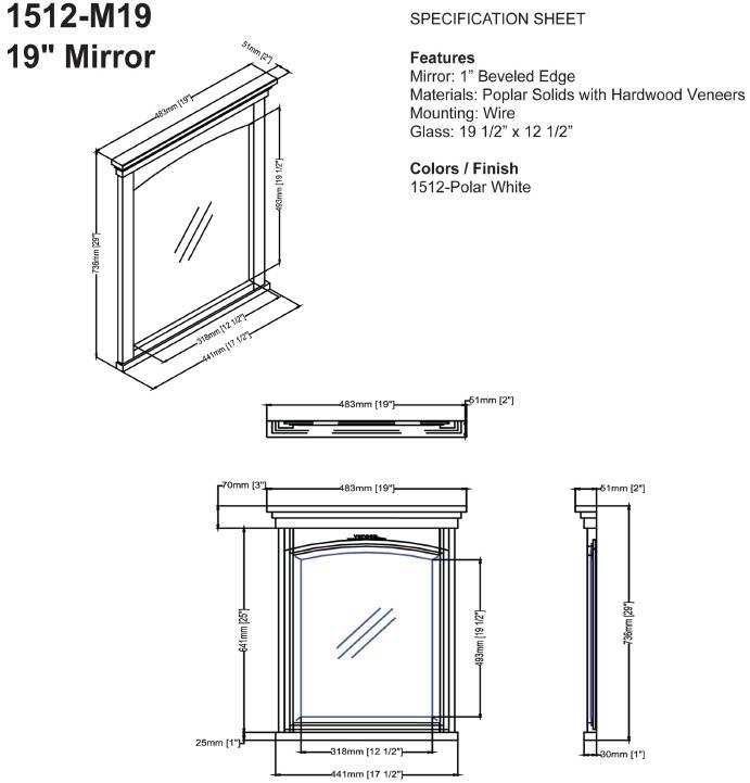 "1512m19s 2 - 24"" Fairmont Designs Shaker Americana  Vanity"