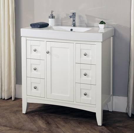 "1512v3618 - 36"" Fairmont Designs Shaker Americana  Vanity/Sink Combo"