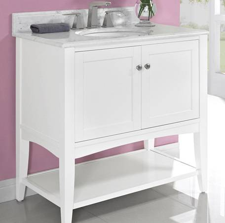 "1512vh36 - 36"" Fairmont Designs Shaker Americana Open Shelf Vanity"