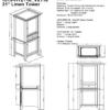 "1513 hts 100x100 - Fairmont Designs Shaker Americana 21"" Linen Tower"