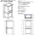 "1513 hts 120x120 - Fairmont Designs Shaker Americana 21"" Linen Tower"