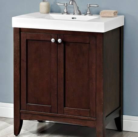 "1513V3018 1 - 30"" Fairmont Designs Shaker Americana Vanity/Sink Combo"