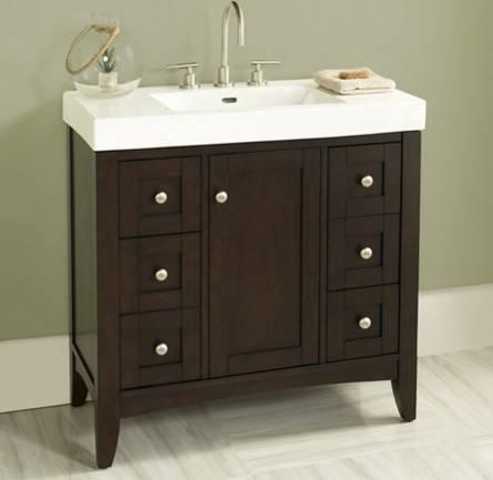 "36"" fairmont designs shaker americana vanity/sink combo - bathroom Bathroom Vanity and Sink Combo"