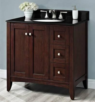 "1513V36B - 36"" Fairmont Designs Shaker Americana Vanity"
