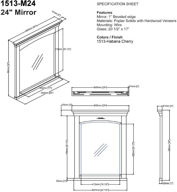 "1513m24s 2 - 30"" Fairmont Designs Shaker Americana Vanity/Sink Combo"