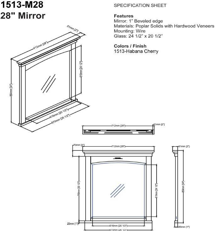 "1513m28s - 30"" Fairmont Designs Shaker Americana Vanity"