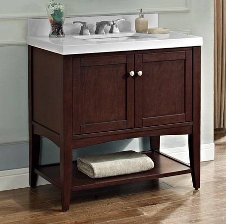 36 Quot Fairmont Designs Shaker Americana Open Shelf Vanity