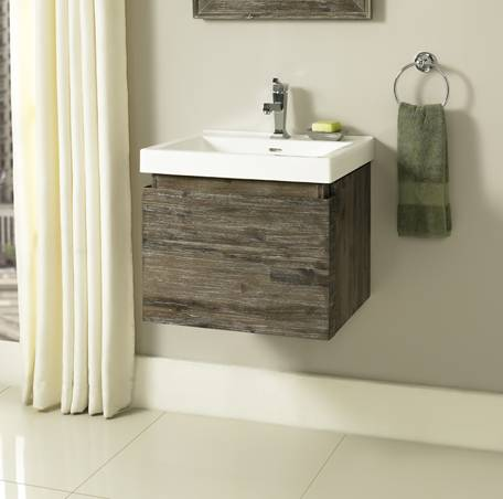 "1522WV2118 1 - 21"" Fairmont Designs Acacia Wall Mount Vanity/Sink Combo"