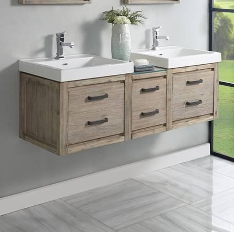 Wall Mount Double Sink Vanity 1530wv2118 Wdb1217 Wv2118