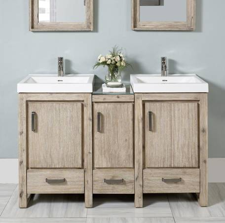 "55"" Fairmont Designs Oasis Modular Double Sink Vanity ..."