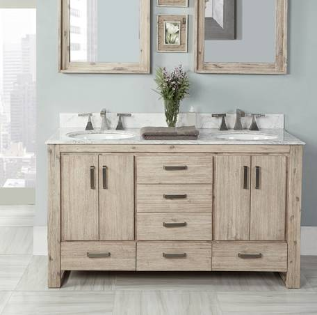 60 Fairmont Designs Oasis Double Sink