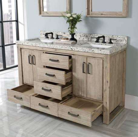55 Quot Fairmont Designs Oasis Modular Double Sink Vanity